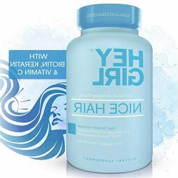 Hair Growth Vitamins- Hair Supplement, Biotin, Keratin, Foli
