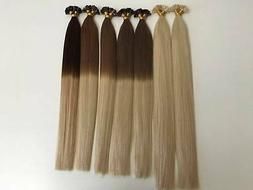 Human hair extensions keratin Remy Double Drawn High quality