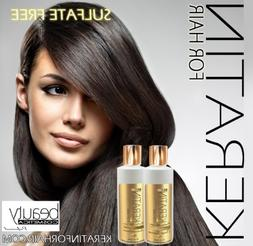 Keratin For Hair Sulfate Free Color Safe Smoothing Shampoo a